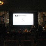 Getting our seats for opening night film, Sons Of Cuba.